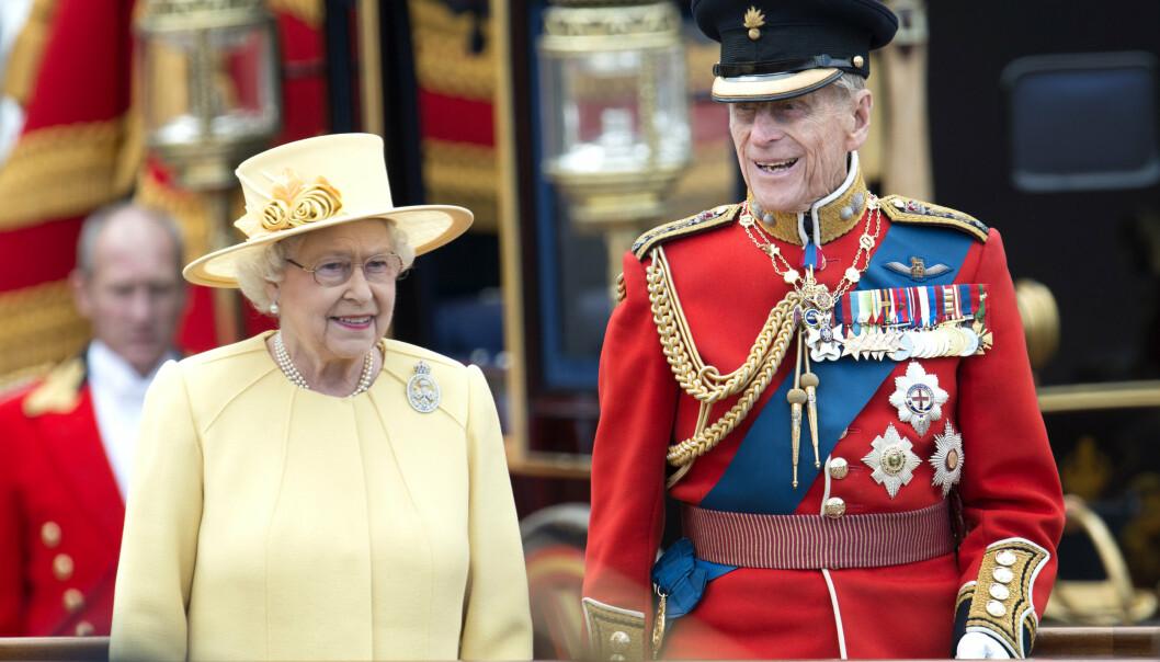 Mandatory Credit: Photo by Tim Rooke/REX (1741143aj) Queen Elizabeth II, Prince Philip Trooping the Colour, London, Britain - 16 Jun 2012
