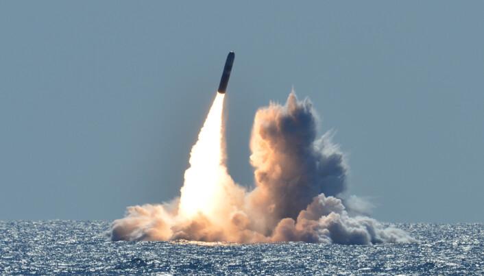 AVFYRING: Et trident missil som kan bære flere kjernefysiske stridshoder.