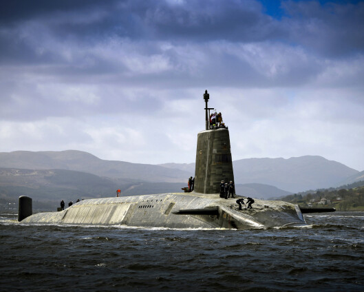 Norge bekymret for britisk opprustning av kjernefysiske våpen