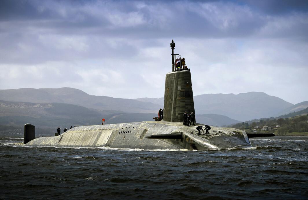 ATOMVÅPEN: Den britiske ubåten HMS Vigilant som kan bevæpnes med 16 interkontinentale ballistiske missiler med kjernefysiske stridshoder.