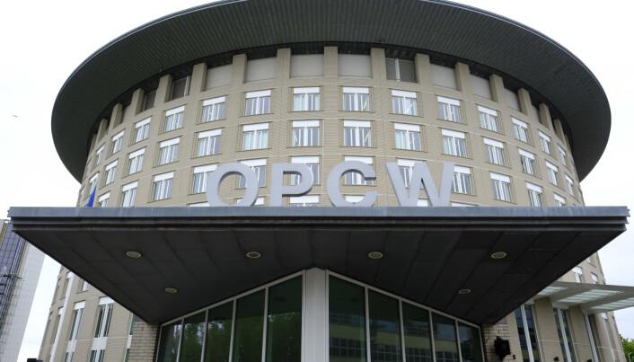 HOVEDKVARTER: OPCWs hovedkvarter i Haag. FN-organet som overvåker forbudet mot kjemiske våpen, fikk Nobels fredspris i 2013.