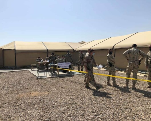 Den norske styrken i Irak er vaksinert av amerikanerne