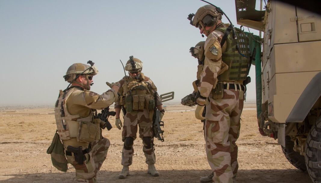 HISTORIE: Alle vi som var i Afghanistan, og våre nærmeste familie, har våre historier og våre minner, skriver Harald Høiback. Her ser vi norske soldater Politirådgivningsenheten i 2013.
