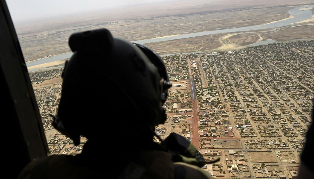 MALI: En fransk soldat i Gao Mali.