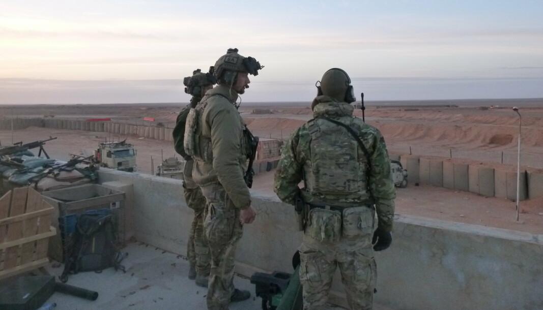 KRIGSKORSET: Major Knut Andreas Flydal i Syria i 2017. Nå tildeles han Krigskorset.