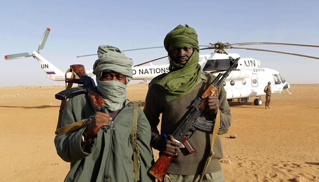 TSJAD: Flere skal være drept i kamper nord i landet. Bildet er fra da Forsvaret var deployert til Tsjad og har ikke sammenheng med hendelsen i april 2021.