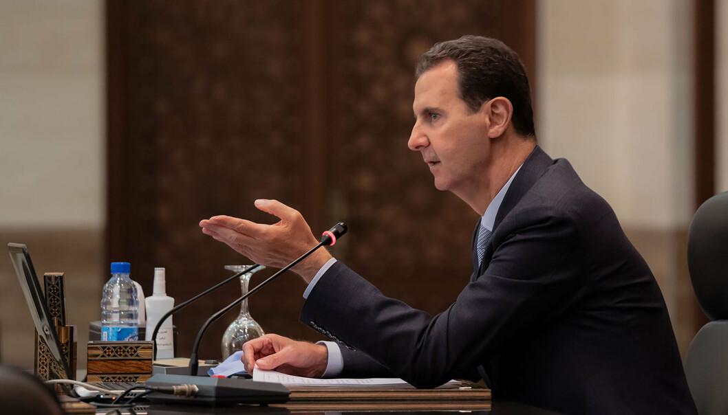Syrias president Bashar al-Assad anklages for bruk av kjemiske våpen og saksøkes nå i Sverige