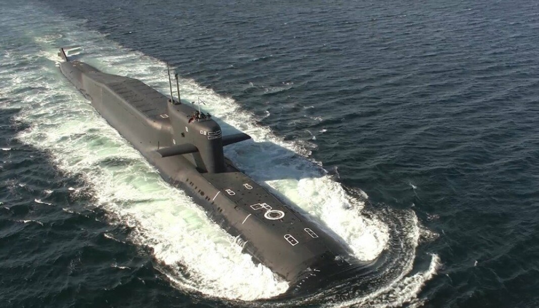 BARENTSHAVET: En russisk ballistisk ubåt av Delta IV-klassen som deltar på øvelsen.