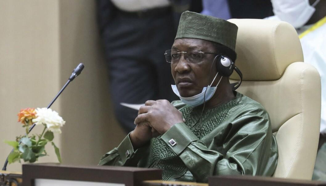 DØDE: President Idriss Déby som mistet livet som følge av krigshandlinger, ifølge hæren i Tsjad
