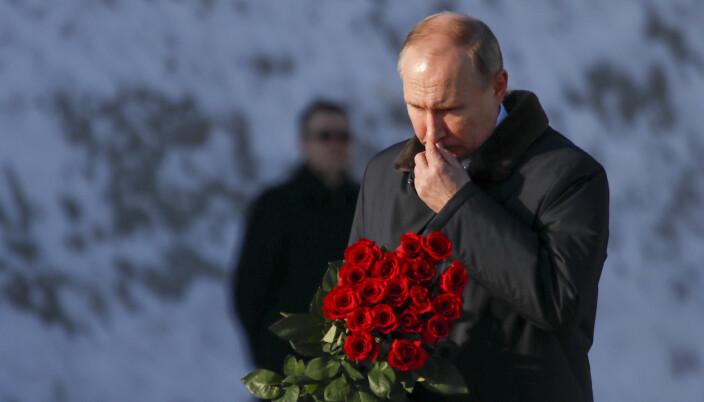 MARKERING: Russlands President Vladimir Putin under 75-årsmarkeringen av slaget om Stalingrad 2. februar 2018.