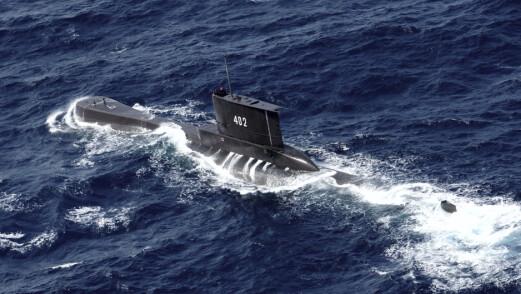 Savnet indonesisk ubåt ligger trolig på 700 meters dyp