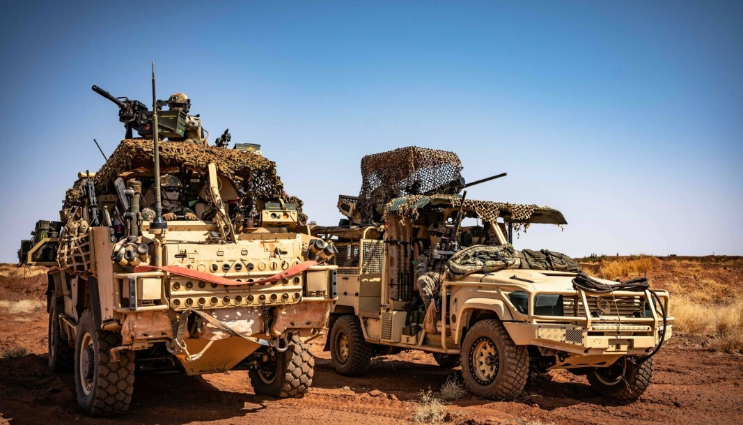 MALI: Soldater fra Task Force Takuba i Mali, som svenske styrker er en del av. Nylig ble tre soldater såret av en veibombe.