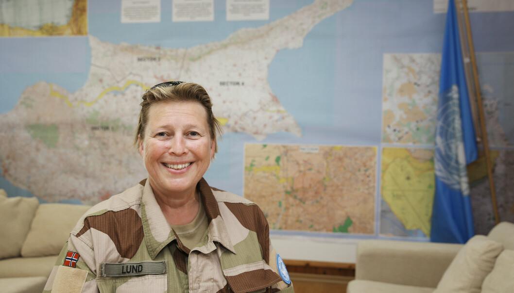 FN-TOPP: Generalmajor Kristin Lunds første dag på jobben som styrkesjef for UNFICYP styrken på Kypros i 2014.