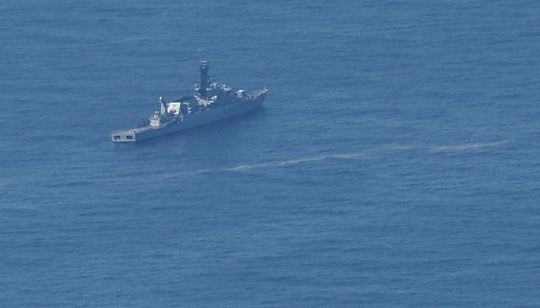 SAVNET: Et indonesisk marinefartøy under letingen etter den savnede ubåten torsdag.