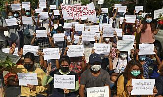 Lokale medier: Flybaser i Myanmar angrepet