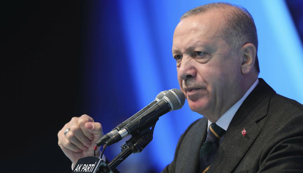 KONFLIKT: Tyrkias president Recep Tayyip Erdogan avviser president Joe Bidens anerkjennelse av massakrene på armenerne i 1915 som folkemord.