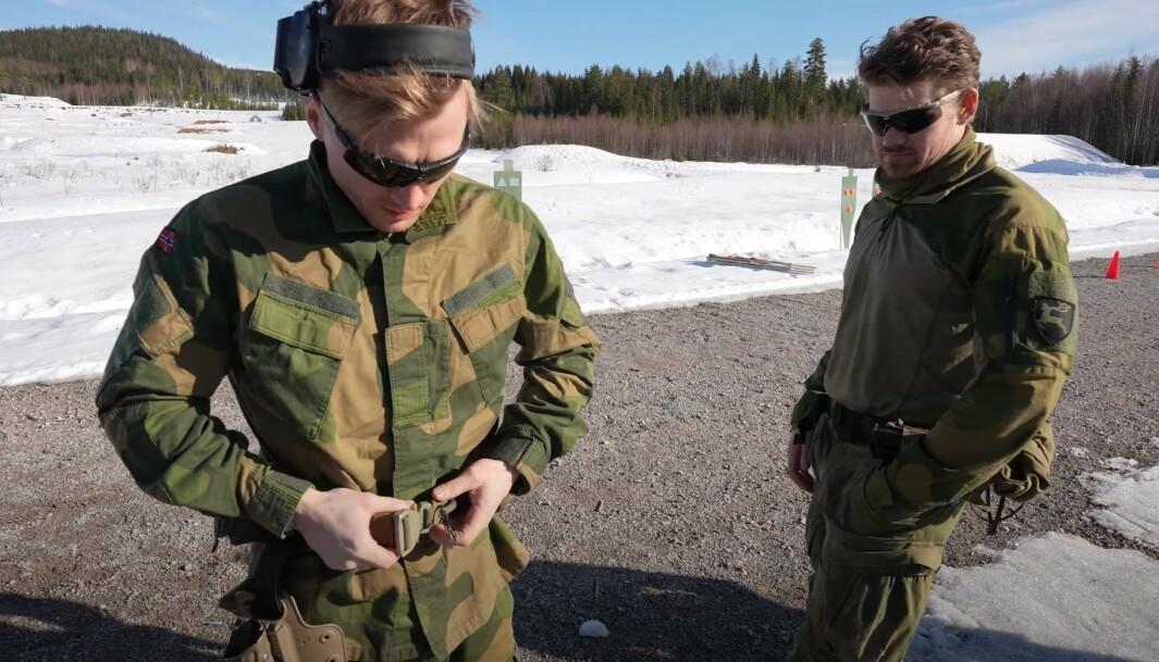 Even Torsvik er en av de soldatene fra Telemarks bataljonen som konkurrerte mot Midtbø