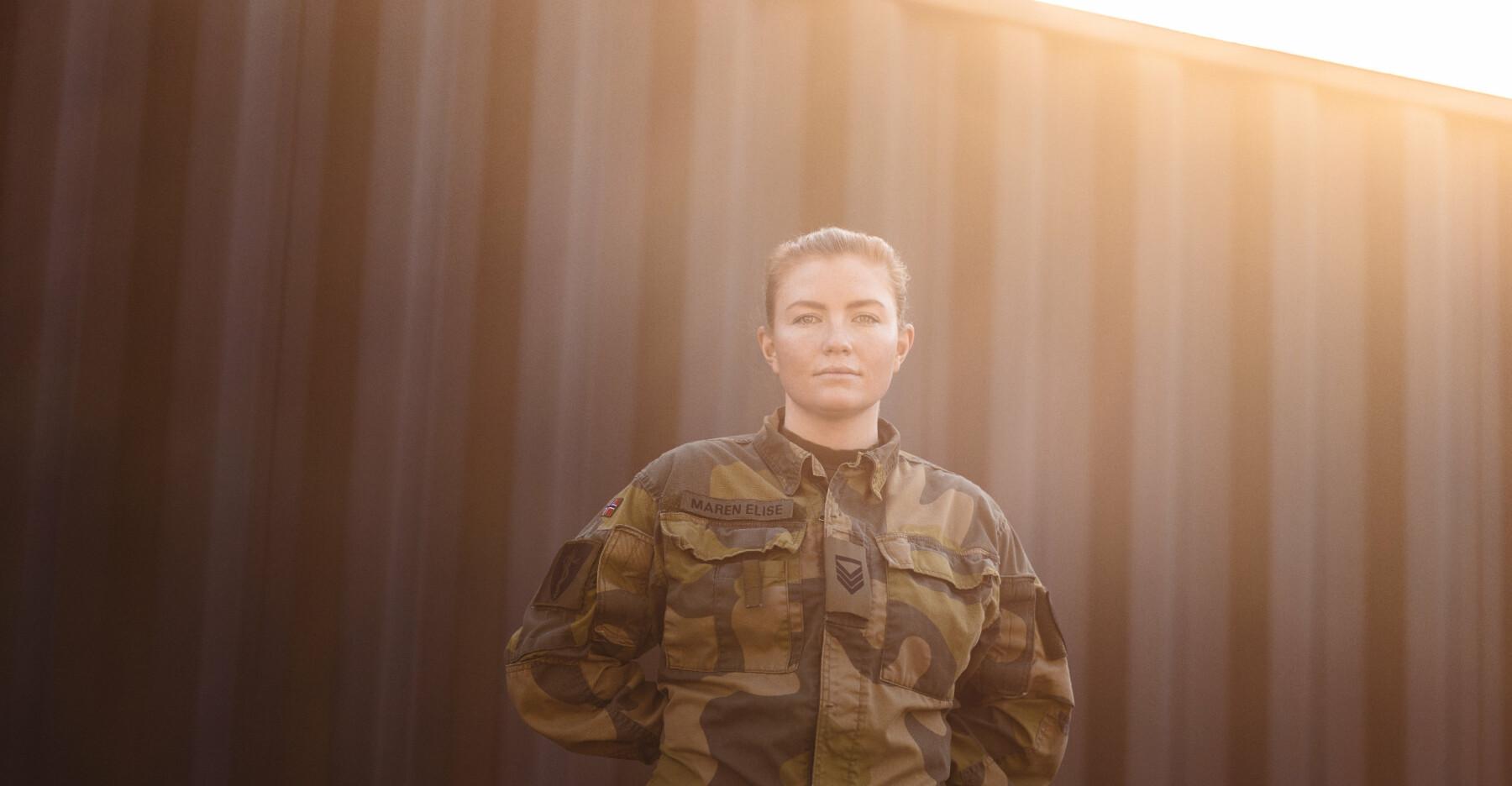 Kursbefal under fagperioden til de nye legene i forsvaret, Maren Elise Røkaas.