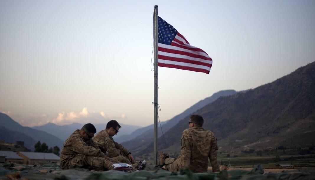 SOLDATER: Amerikanske soldater i Afghanistan 11. september 2011, ti år etter 11. september-angrepene.
