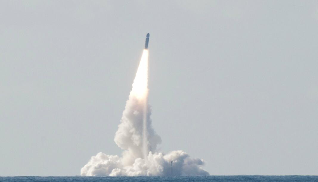 TESTE: Det franske militæret vil utføre en langdistanse ballistisk missil test.