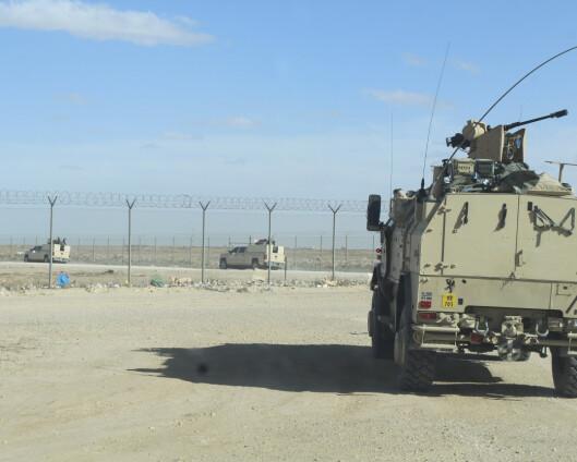 Rakettangrep mot norskvoktet flybase i Irak