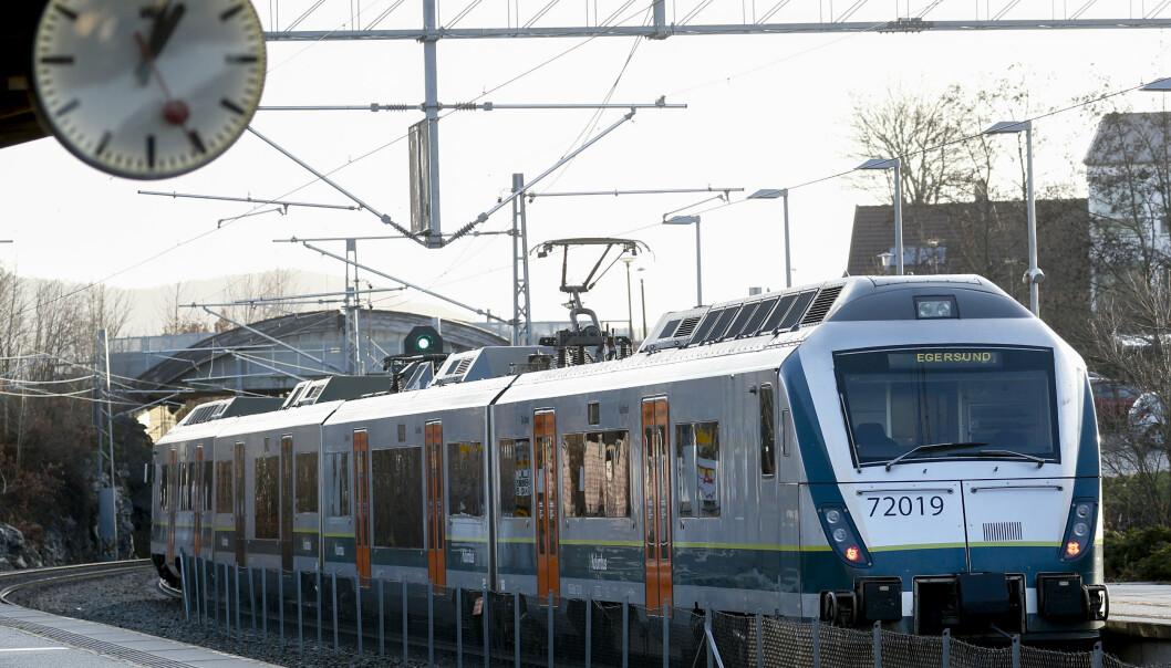 SØRTOGET: Åpning av Sørtoget i desember 2019. Toget betjener strekningen Stavanger og Egersund, og driftes av Go-Ahead.