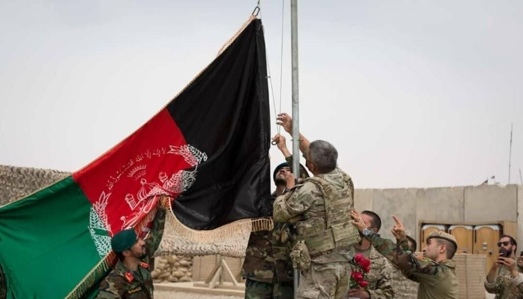 HELMAND: En amerikansk militærleir i Helmand-provinsen overtas av afghanske regjeringsstyrker 2. mai.