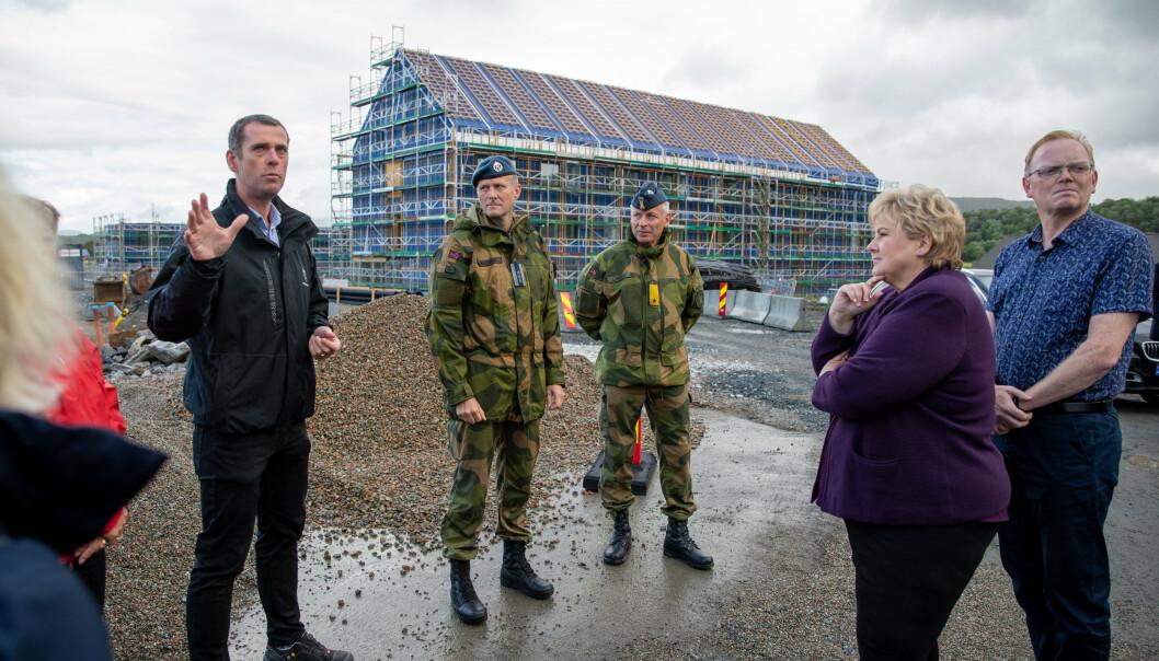 STØRST: Utbyggingen av Evenes flystasjon var Forsvarsbyggs største prosjekt i 2020.