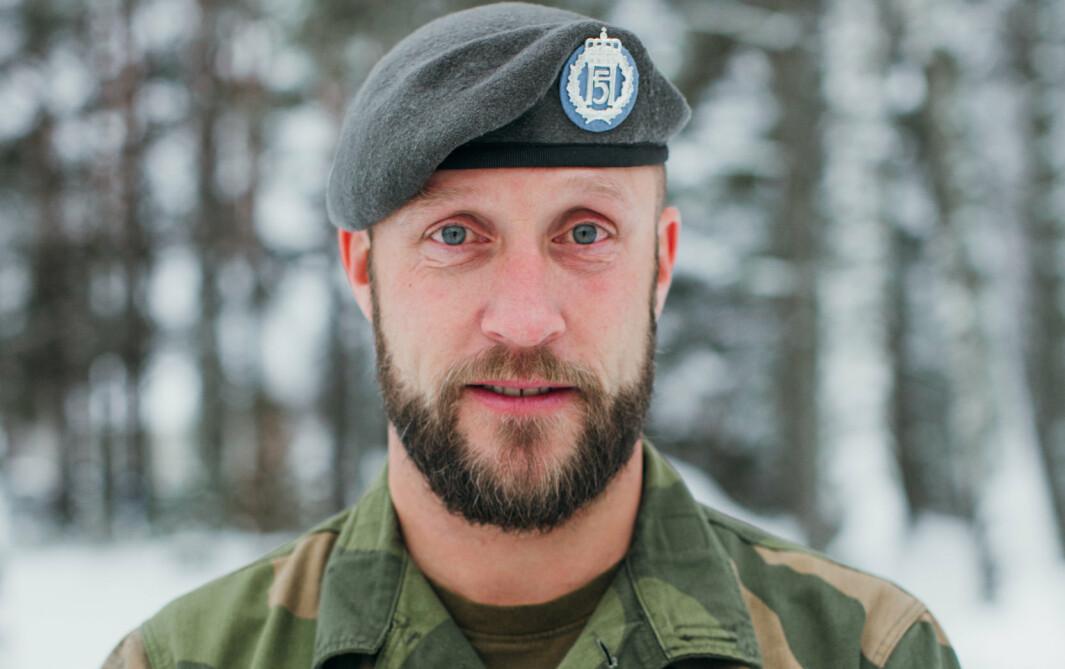 Distriktssjef HV-05, Oberstløytnant Semming Rusten på Terningmoen