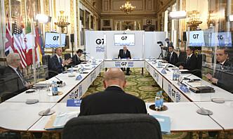 G7-gruppen med kritikk av Russland, Kina og Iran