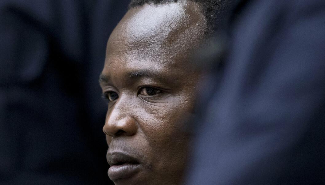 DØMT: Dominic Ongwen, her avbildet i en tidligere fase av rettssaken i 2016, er dømt til 25 års fengsel for krigsforbrytelser.