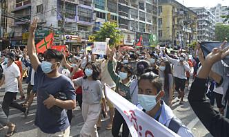 Motløshet i Myanmar 100 dager etter kuppet