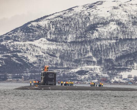 Atomdreven ubåt til kai i Tromsø: – Vi har meget god kontroll