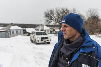 Patruljefører Mircea er fra Romania.