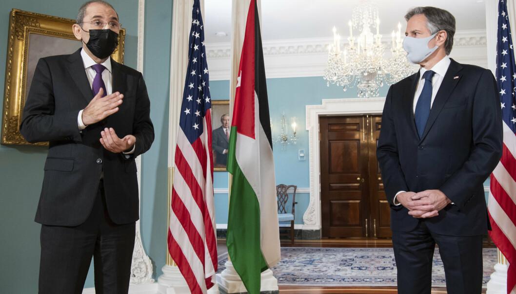 KONFLIKT: USAs utenriksminister Antony Blinken ber alle sider om å trappe ned, redusere spenningen og ta praktiske steg for å roe ned situasjonen.