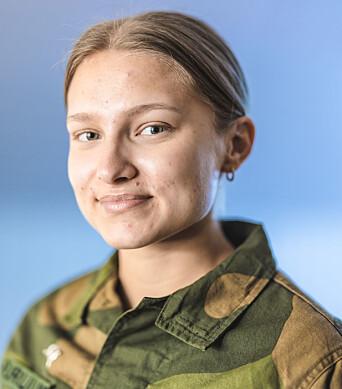TILLITSVALGT: Ingri Furulund er basetillitsvalgt for de vernepliktige soldatene på Andøya flystasjon.