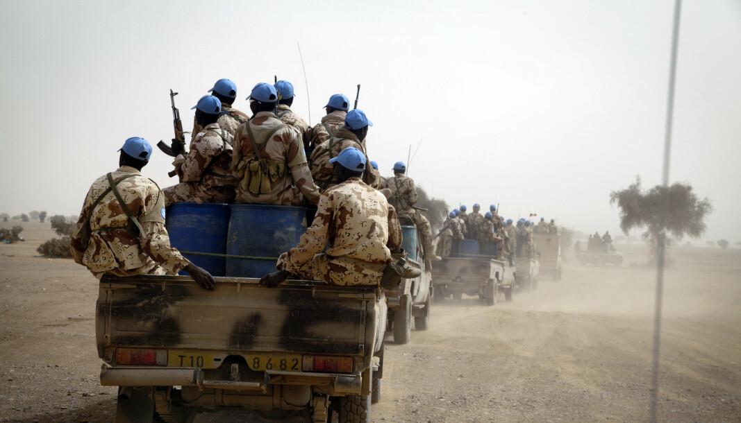 MINUSMA: Tsjadiske FN-soldater, som deltar i Minusma-operasjonen i Mali.