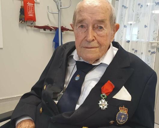 Krigshelt Monrad Mosberg (103) tildelt den franske æreslegionen