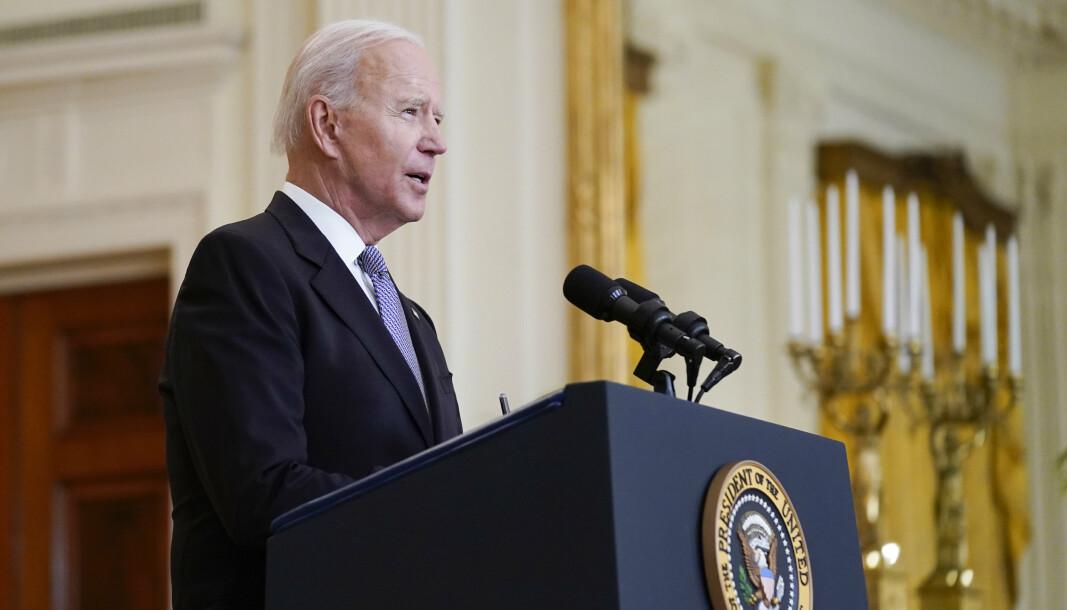 VÅPENHVILE: President Joe Biden uttrykker bekymring for krigføringen mellom Israel og Hamas på palestinske Gazastripen, men han har så langt ikke gjort som andre verdensledere og krevd en umiddelbar våpenhvile mellom partene.