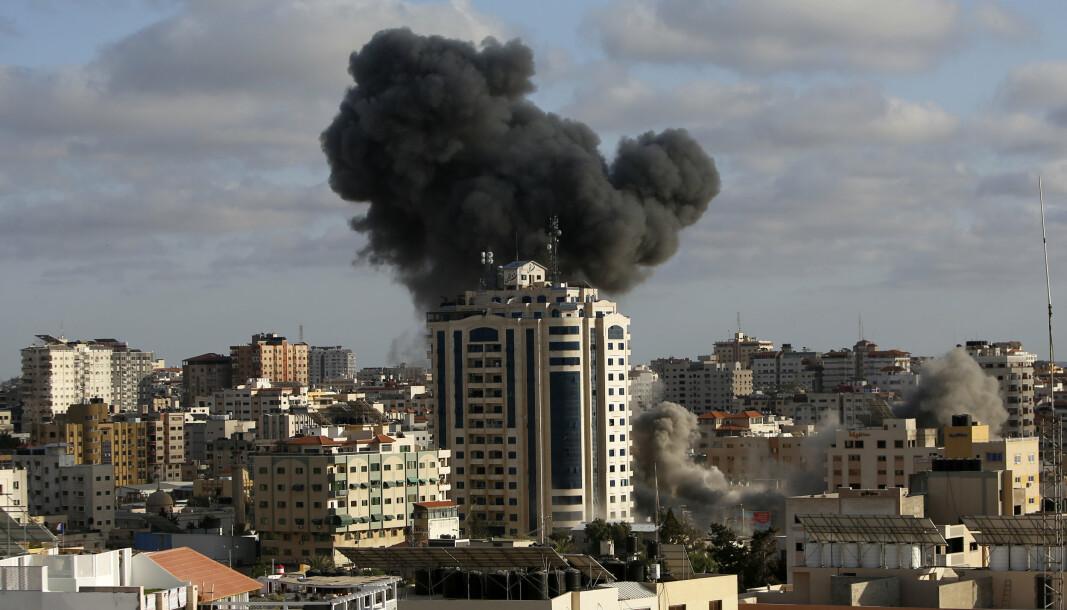 GAZA: Israelske missiler har truffet en rekke bygninger den siste uken.