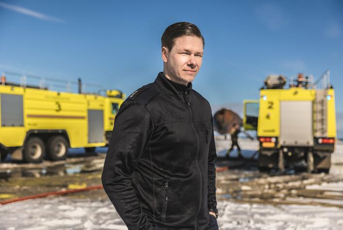 Kaptein Jo Skei kom til Andøya i 2018. Han er den første sjefen for Brann-, rednings- og plasstjenesten som ikke var brannmann før han kom.