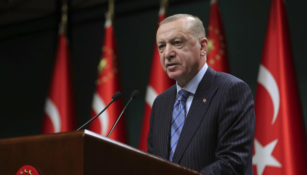 ANKLAGET: Tyrkias president Recep Tayyip Erdogan har anklaget Israel for «terrorisme» mot palestinerne og sagt at «det ligger i deres natur». USA fordømmer uttalelsene.