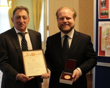 Håkon Vinje tildelt russisk medalje