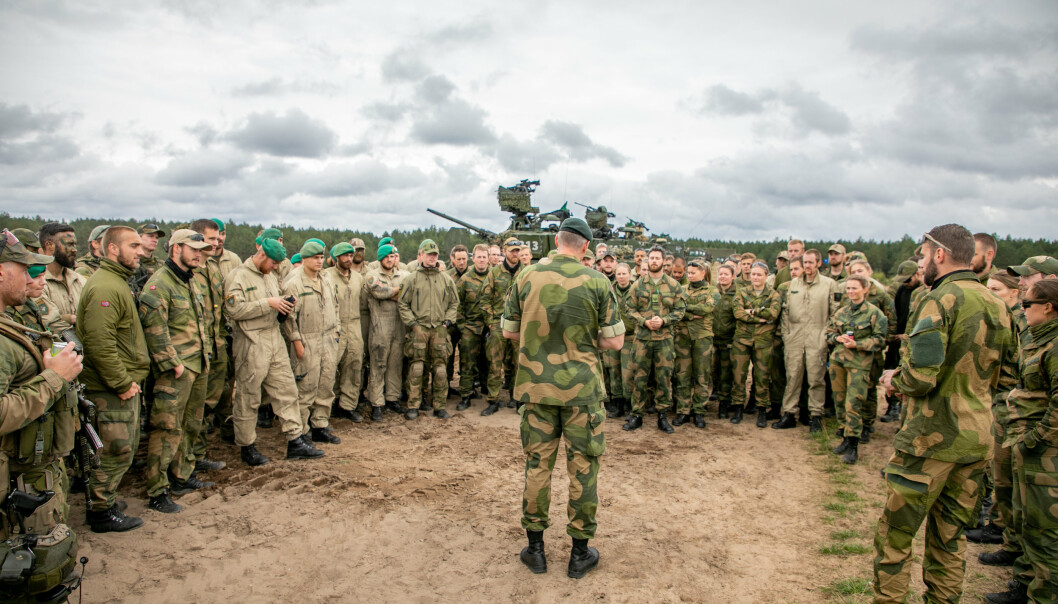 Generalsekretær i NVIO Bjørn Robert Dahl mener at blant andre soldater i Nato-operasjonen Enhanced Forward Presence, som vi ser på bildet, ikke blir anerkjent for innsatsen under gjeldende veteranbegrep.