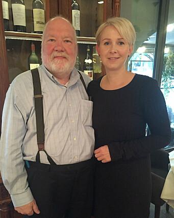 Sofie sammen med professor Gene Spafford.