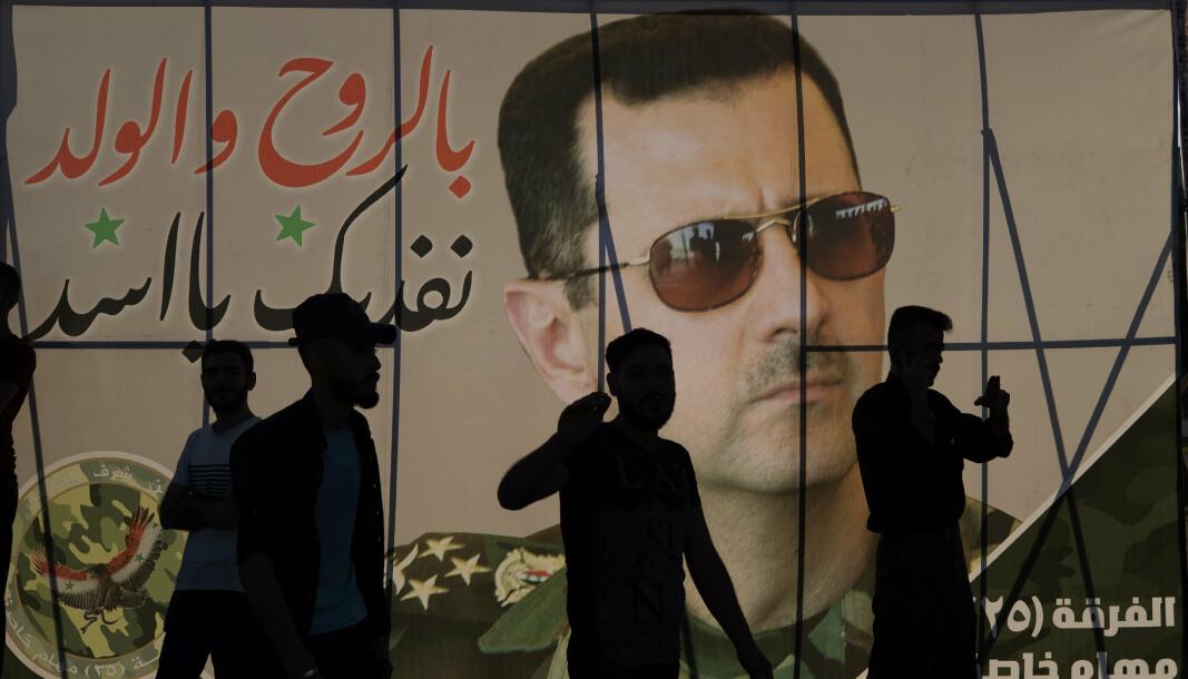 SYRIA: Valgplakater med bilder av Syrias president Bashar al-Assad henger overalt i Damaskus.