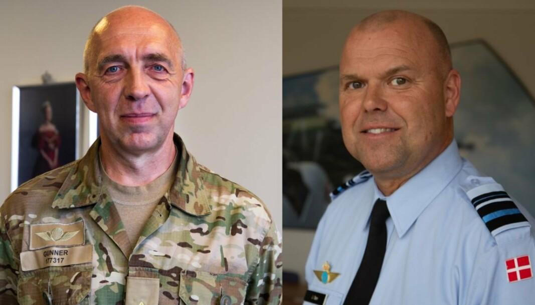 NYE SJEFER: Gunner Arpe Nielsen er den nye sjefen for hærkommandoen og Jan Dam er den nye sjefen for luftvåpenkommandoen.