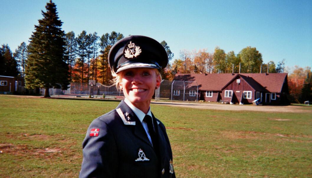 LUFT: Stina Barclay Gaasland er kommunikasjonssjef i Luftforsvaret.