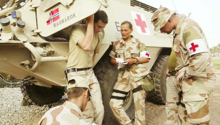 IRAK: Noe så enkelt som å gå på do kan være utfordrende når man er deployert til utlandet. Her er Vibeke Sefland i Irak.
