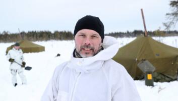 FREMMER FORSLAG: Major Knut Hummelvoll ved Forsvarets vinterskole.